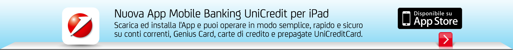 Nuova App Mobile Banking UniCredit per IPad